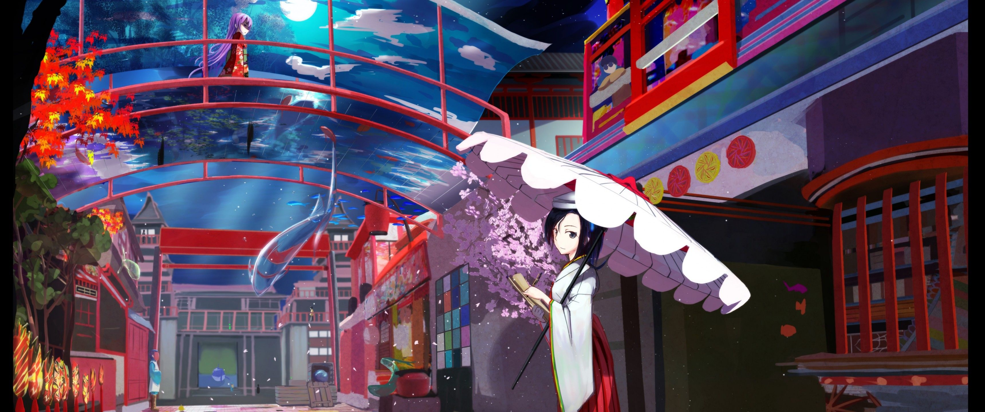 70 Japanese Anime City Android Iphone Desktop Hd