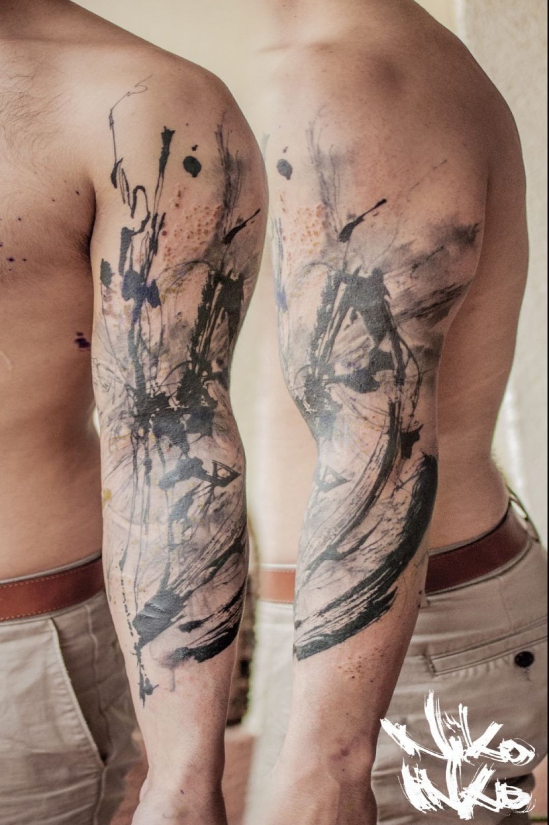 Image result for sleeve abstract tattoo