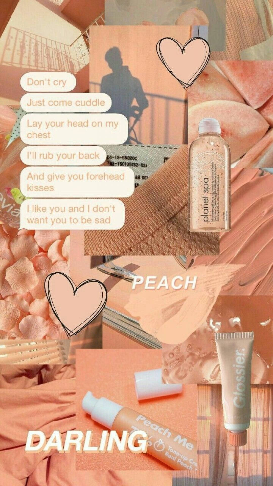 120 Peach Aesthetic Collage Hd Wallpaper Background Android Iphone Hd Wallpaper Background Download Png Jpg 2021