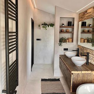Black Bathroom / Washroom Design / Decoration (#118663)
