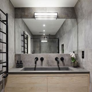 Black Bathroom / Washroom Design / Decoration (#58866)