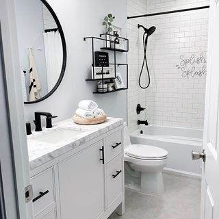 Modern Black Bathroom / Washroom Design / Decoration (#77731)