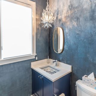 Blue Bathroom / Washroom Design / Decoration (#79794)