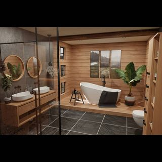 Modern Bathroom / Washroom Design / Decoration (#59310)