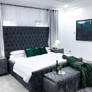 Luxury Green Bed Room Design / Decoration (#66227)