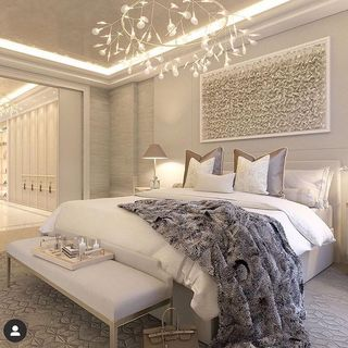 Luxury Pink Bed Room Design / Decoration (#65134)
