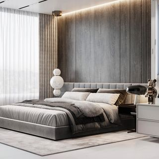 Modern Luxury Bed Room Design / Decoration (#65389)