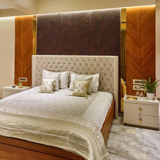Luxury Metal Gold Bed Room Design / Decoration (#77251)