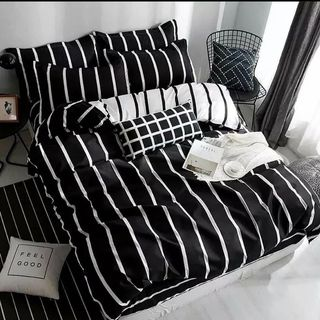 White Black Bed Room Design / Decoration (#127247)