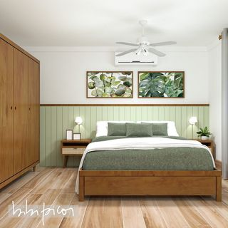 Green Bed Room Design / Decoration (#56522)