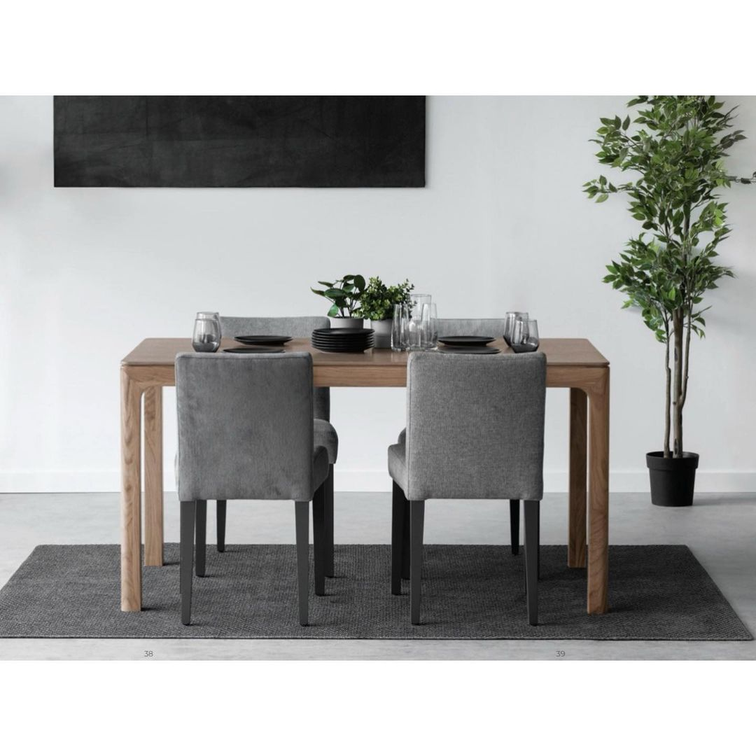 Simple Wooden Dining Room Design / Decoration (#22738)