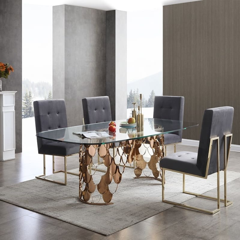 Modern Gold Rose Dining Room Design / Decoration (#126601) (734440) - Dining Room