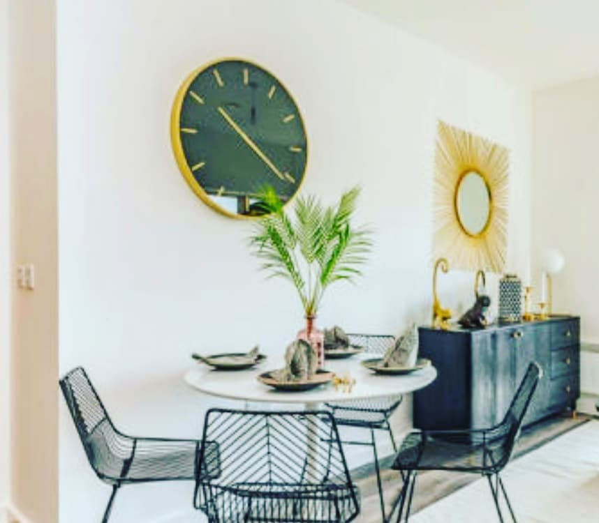 Green Dining Room Design / Decoration (#23645)