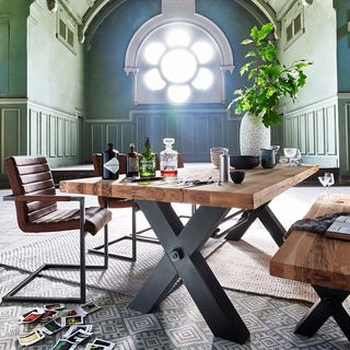 Metal Dining Room Design / Decoration (#129165)