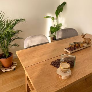 Wooden White Dining Room Design / Decoration (#129158)