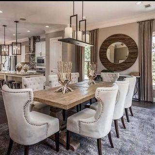 Big Luxury Dining Room Design / Decoration (#108922)