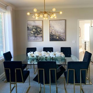 Black Gold Dining Room Design / Decoration (#129365)