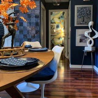 Modern Blue Dining Room Design / Decoration (#72854)