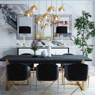 Dining Room Design / Decoration (#129746)