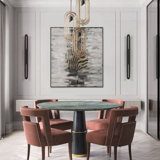 Modern Luxury Dining Room Design / Decoration (#82510)