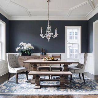 Small Simple Indian Green Dining Room Design / Decoration (#44125)