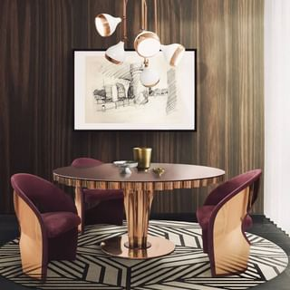 Modern Luxury Gold Dining Room Design / Decoration (#51960)