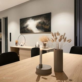 White Dining Room Design / Decoration (#109171)