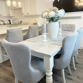 White Dining Room Design / Decoration (#109084)