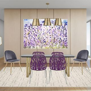 Purple Dining Room Design / Decoration (#123290)