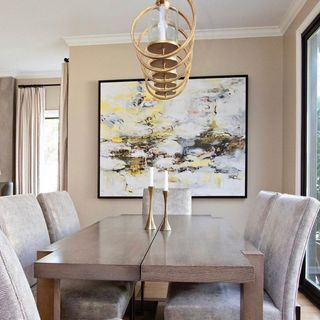 Modern Gold Rose Dining Room Design / Decoration (#126601)