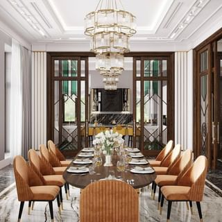 Modern Luxury Dining Room Design / Decoration (#116629)