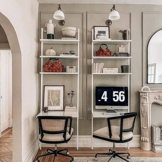White Home Office Design / Decoration (#58328)