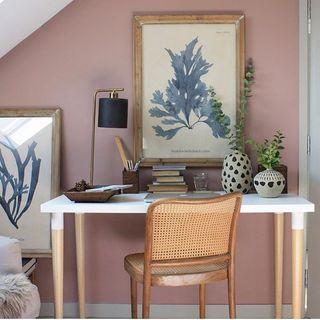 Blue Pink Home Office Design / Decoration (#103210)