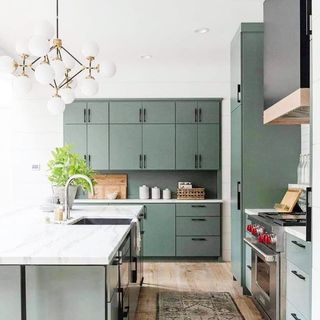 Green Kitchen Design / Decoration (#107246)