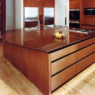 Indian  Red  Kitchen Design / Decoration (#115250)