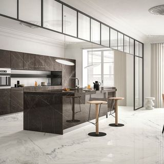 Modern White Kitchen Design / Decoration (#79640)