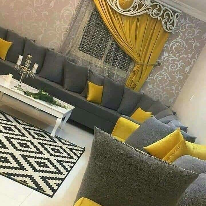 Wooden Yellow Living Room Design / Decoration (#9239) (648381) - Living Room