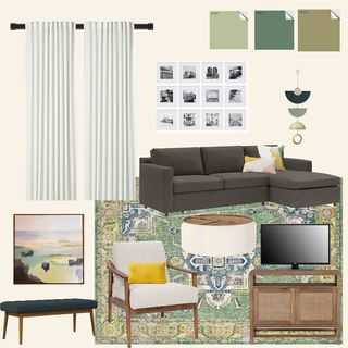Blue Yellow Living Room Design / Decoration (#74962)