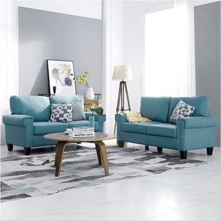 Modern Blue Living Room Design / Decoration (#113192)
