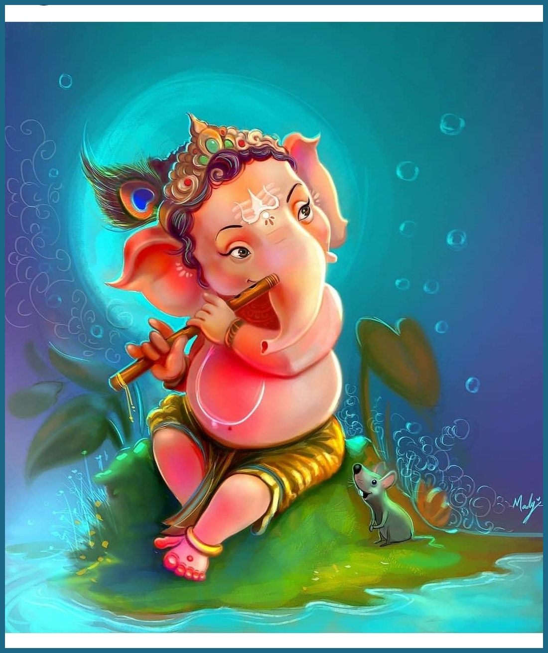ganesha cartoon hd wallpaper enam wallpaper