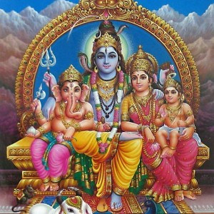 Lord Ganesha with his family - #15523
