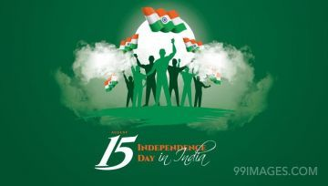Beautiful Independence day wishes, People lifting Indian Flag