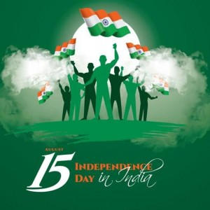 Beautiful Independence day wishes, People lifting Indian Flag - #9238