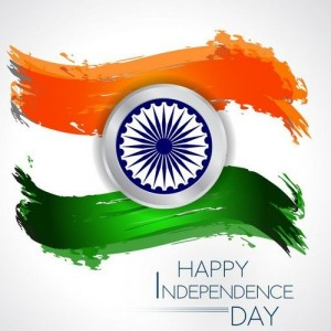 Happy Independence Day with Indian Flag - #9197