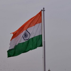 Happy Independence Day, Indian Tricolor Flag Flying