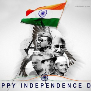 Happy Independence Day with National Leaders, Freedom Fighters