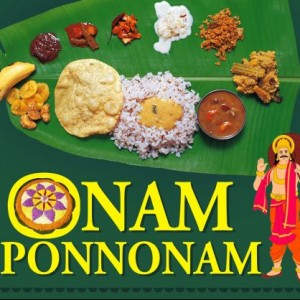 Happy Onam, Onam Sadhya in Banana Leaf