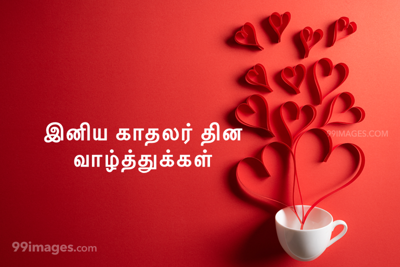 [14 February 2021] Happy Valentines Day in Tamil (kadhalar dhinam vazhthukkal) Romantic Heart Images, Wishes, Love Quotes, Messages (302584) - Valentine's Day