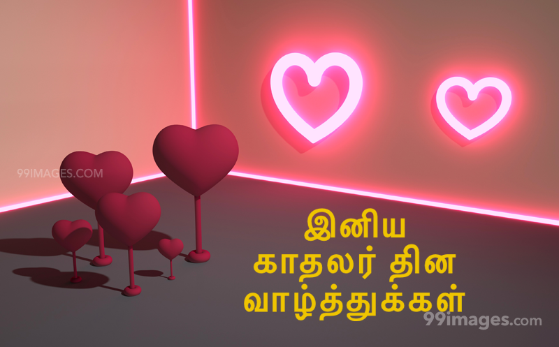 [14 February 2020] Happy Valentines Day in Tamil (kadhalar dhinam vazhthukkal) Romantic Heart Images, Wishes, Love Quotes, Messages (302555) - Valentine's Day