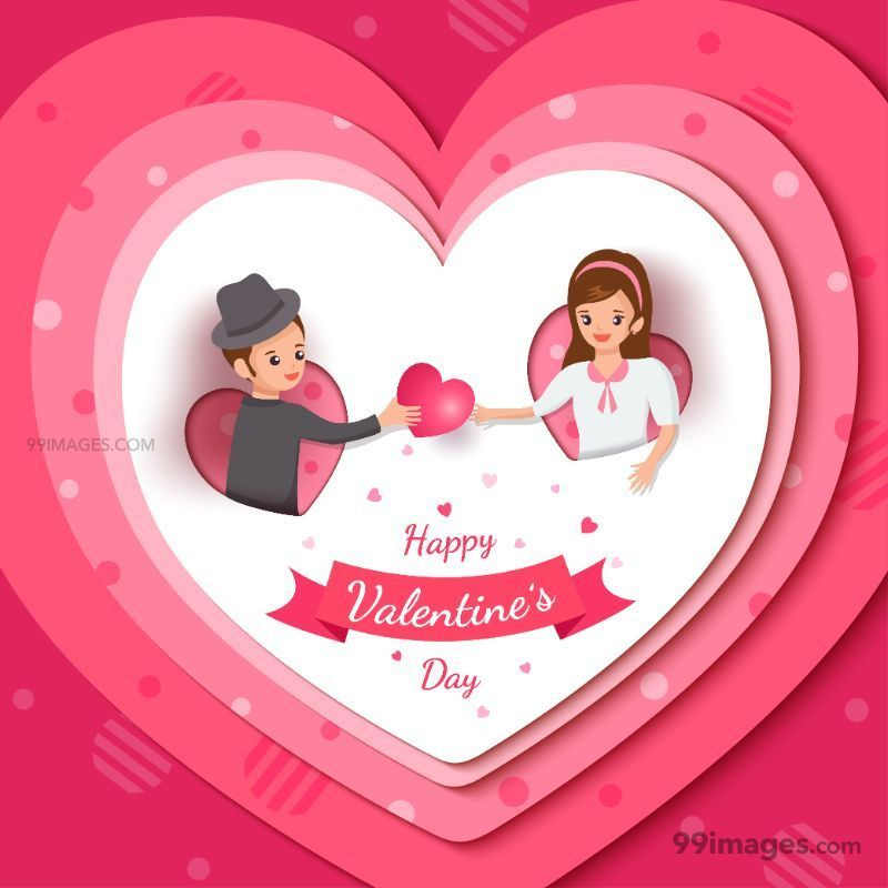 [14 February 2021] Happy Valentines Day Romantic Heart Images, Wishes, Love Quotes, Messages (Hearts / Gifts / Flowers / Chocolates / Cards / Gif) (182810) - Valentine's Day